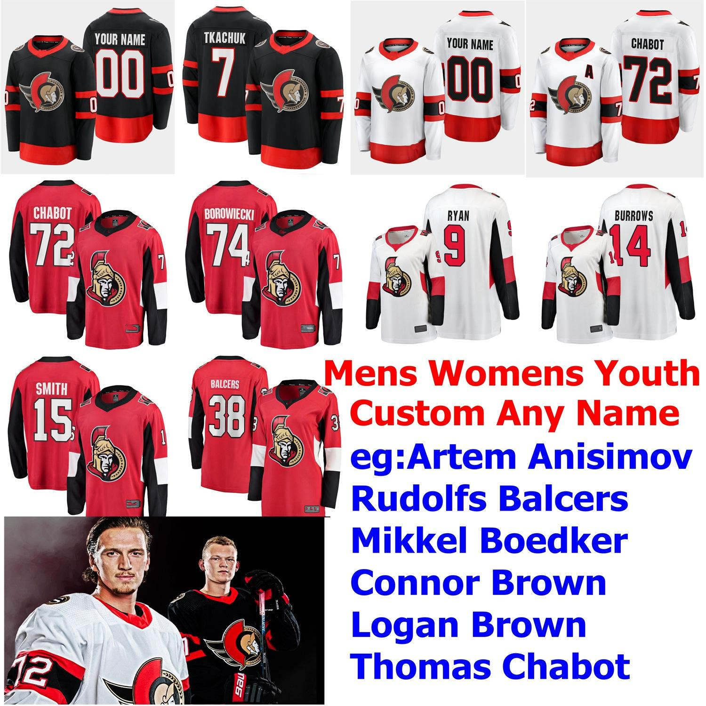 2020 2021 Season Ottawa Senators Jerseys 65 Erik Karlsson ...
