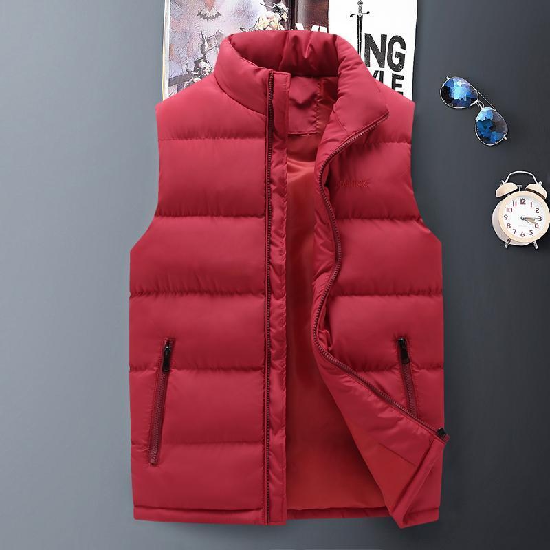 Gilet da uomo Giacca senza maniche di marca per uomo moda moda calda inverno gilet di alta qualità Casual Mens da lavoro a gilet luce plus size