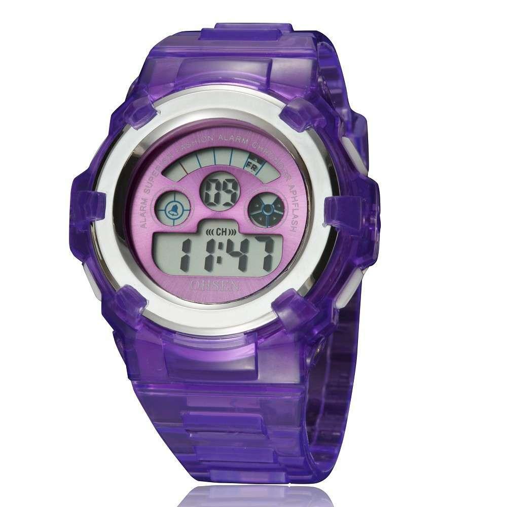 Ohsen Herren Outdoor Sports Wasserdichte Elektronische Uhr LED Elektronische Kinderuhr AD1105