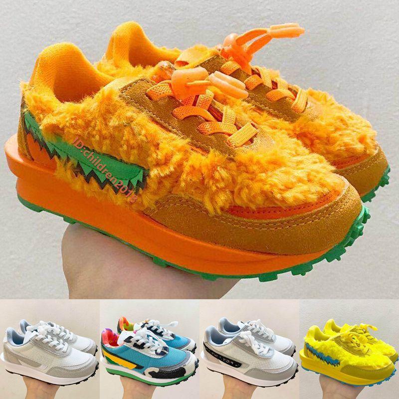 LD Waffle Daybreaks Çocuk Ayakkabıları Erkek Kız 2020 Bebek Sneakers Koşu Ayakkabı Turuncu Ayı Yeşil Gusto Çocuk Chaussures Enfants Boyutu 22-35