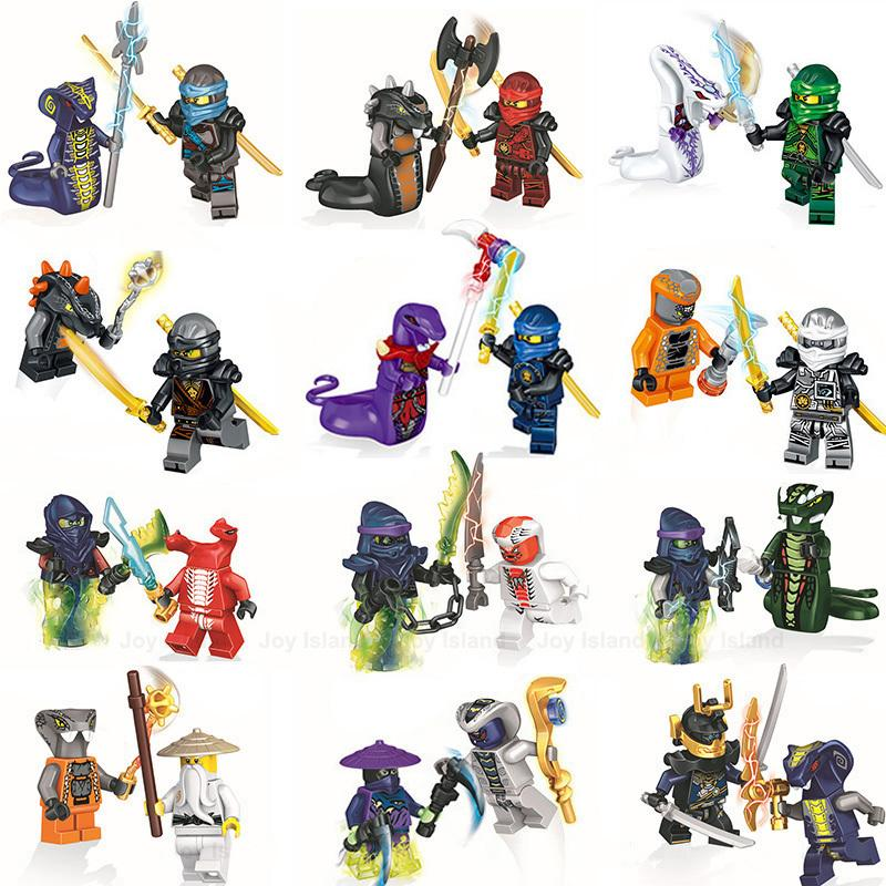 24 шт. / Установить ниндзя модель строительные блоки наборы Mecha кукла Ninjagoed Dragon аниме действия фигурки дети игрушки рождественский подарок для детей