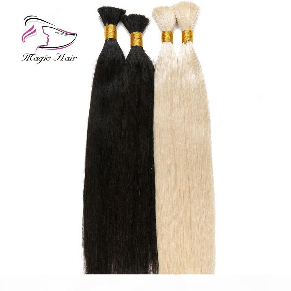Evermagic Hot selling cheap price Good Quality Big Stock#613 Blonde Hair Bulk Brazilian Straight Human Hair Extensions Remy Hair Bulk