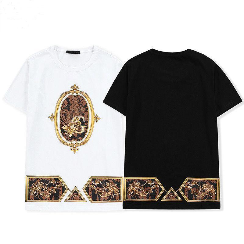shirt dos homens de moda T SummerHip Hop T-shirt das mulheres Imprimir T-shirt de algodão Casual Couple Essentials Streetwear Pullover Top