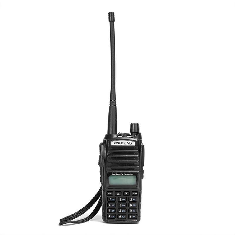 Handheld UV-82 VHF / UHF Dual-Band FM Transceptor Portable PC Programável 128 canais de duas vias Radio Walkie Talkie