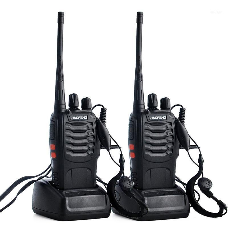 Walkie talkie bf-888s walkie-talkie com fones de ouvido civil el ktv salão de beleza portátil (1 par) 1