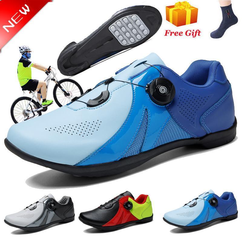 Calçado de ciclismo 2021 MTB Sapatos Profissional Anti-Skid Atlético Atlético Corrida Bicicleta Não-Bloqueio Bicicleta Sneakers Homens