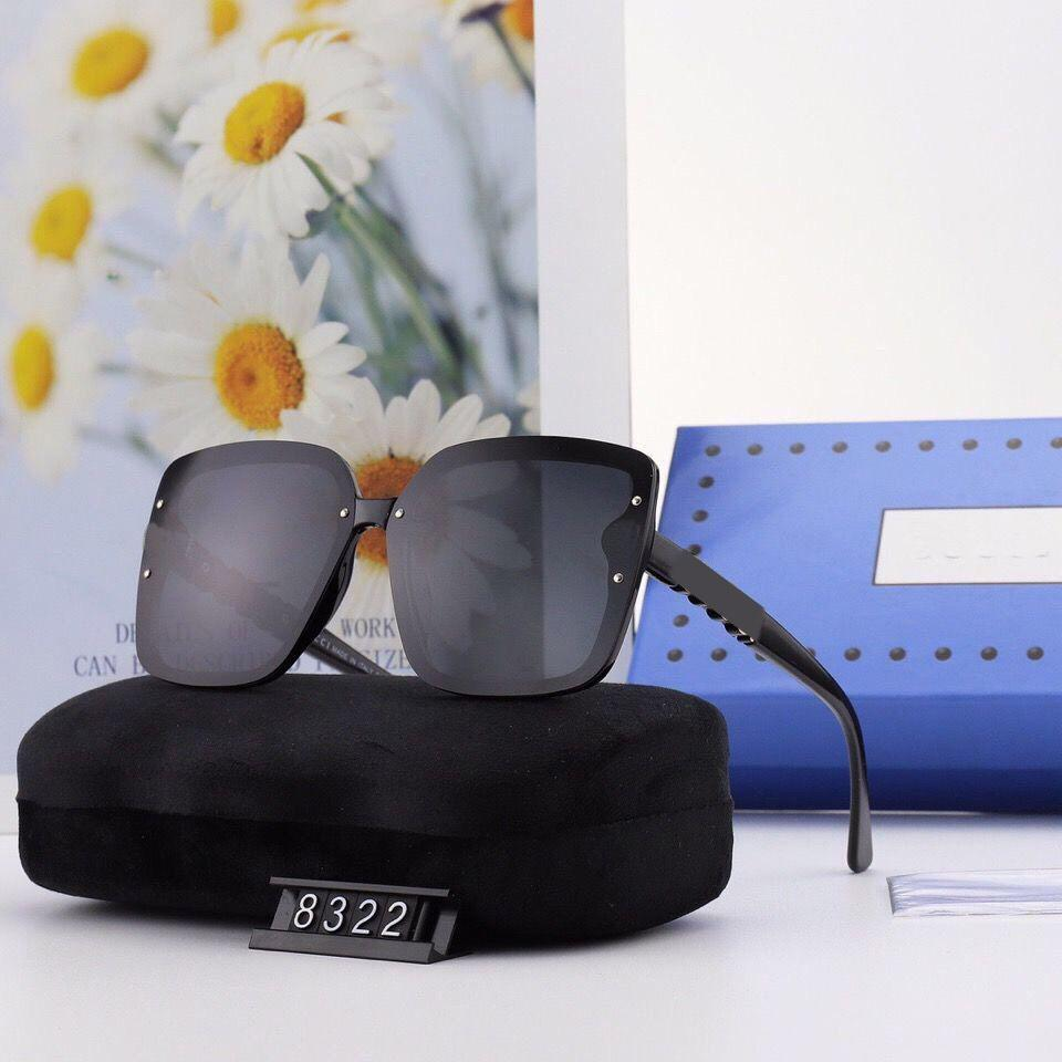 2021 New Designer Sunglasses Outdoor Fashion Brand High Quality Male and Female Polarized Large Frame Square Luxury Sunglasses