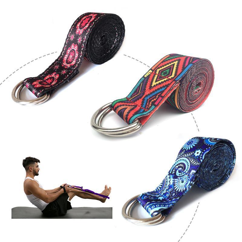 Bandes de résistance Femmes Sport lavable Strap Stretch Stretch-jambe Temple de remise en forme de jeux de remise en forme de yoga à la courroie réglable des multicolores