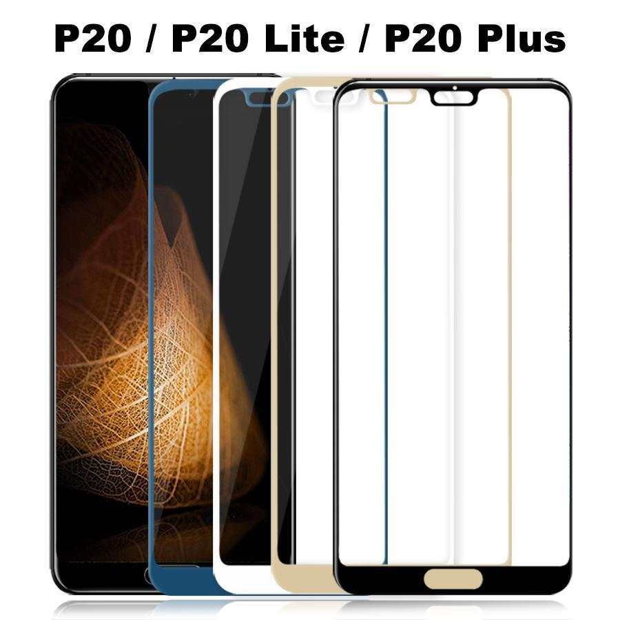 Tampa cheia de vidro temperado p20 lite vidro para huawei p20 lite plus protetor de tela p20lite p 20 proteção de filme protetora glas