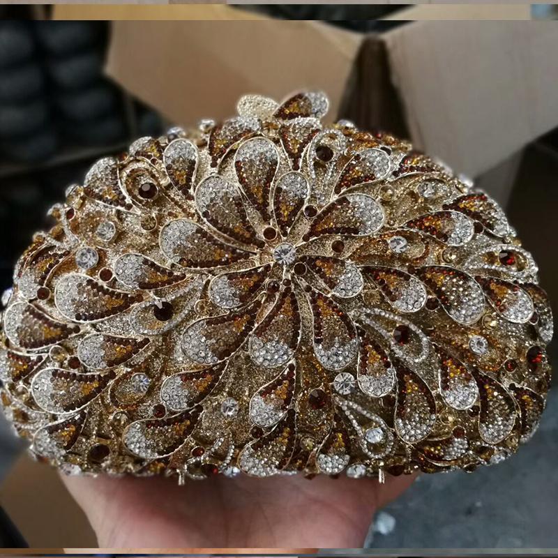 Mujeres Diamond Girlfriend Evening Bolsos de lujo Crystal Mini para bolso Detalles hechos a mano Regalos de cumpleaños Cumpleaños creativos Caja de monedero Aiqbl