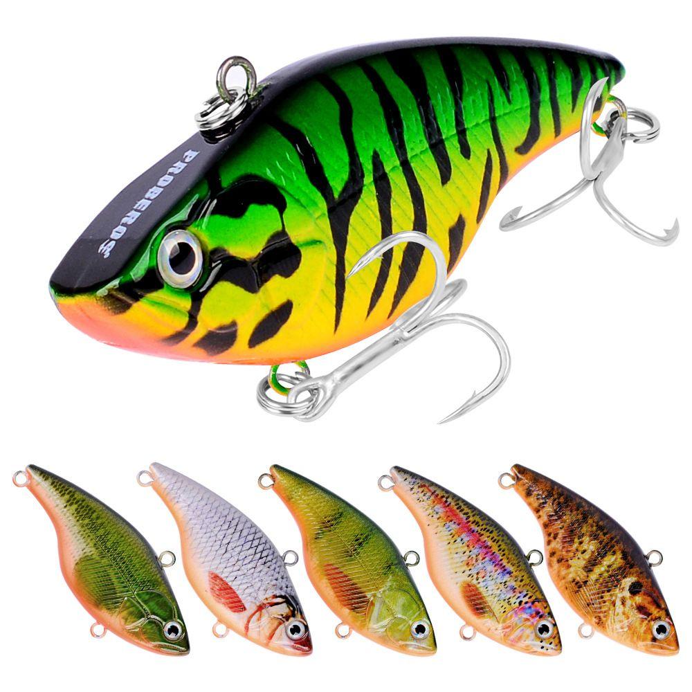 4 pcs lápis de pesca vib iscas 7.4cm 18.5g artificial Wobbler Bass iscas 6 # ganchos afundando Vibra Rattlin Balancer Equipamento de Pesca