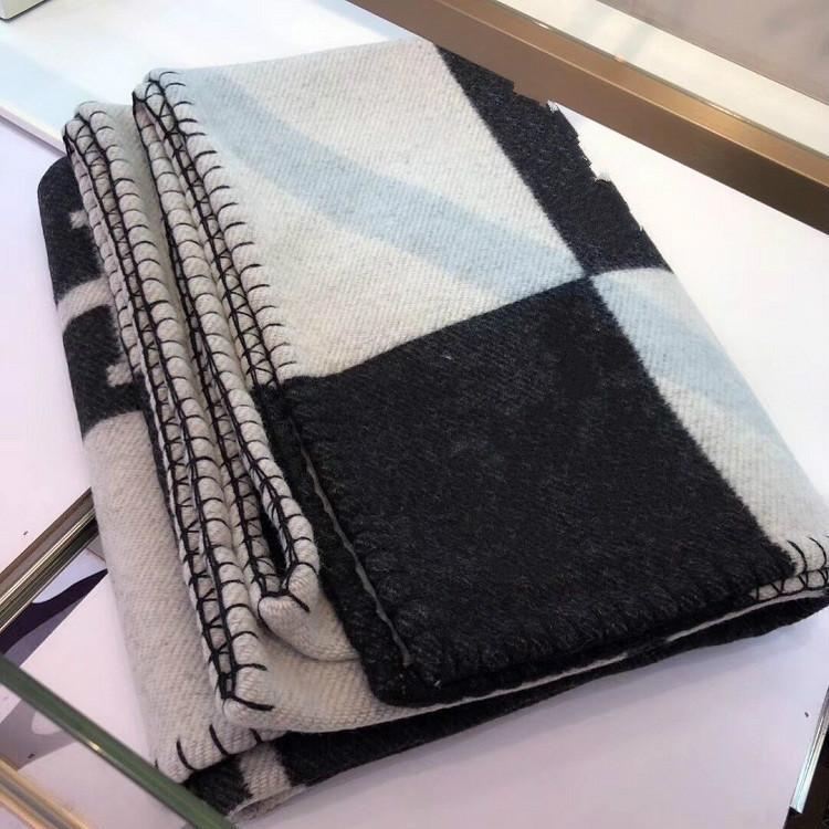Top Quailty Wolle H Decke Schwarz Farbe Decke Kissen