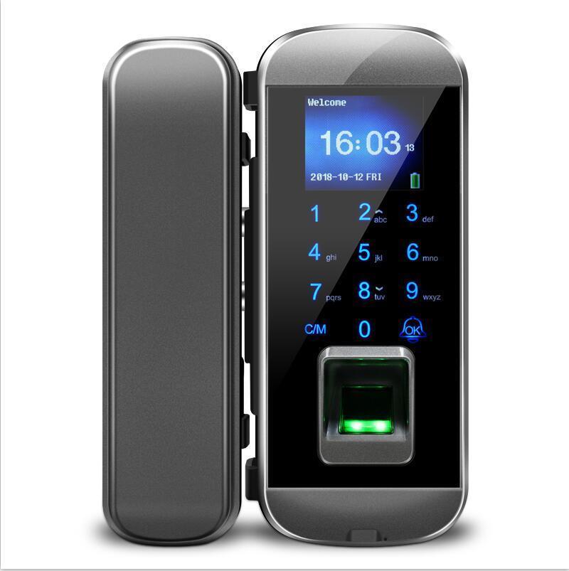 Inteligente Keyless Door Lock Intelligent biométrico de impressão digital Bloqueio eletrônico para porta de vidro iGlass100Plus