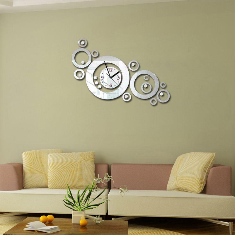 Yeni Avrupa Duvar Saati Horloge Quartz İzle Reloj de Pared Büyük Dekoratif Saatler Akrilik Modern 3D