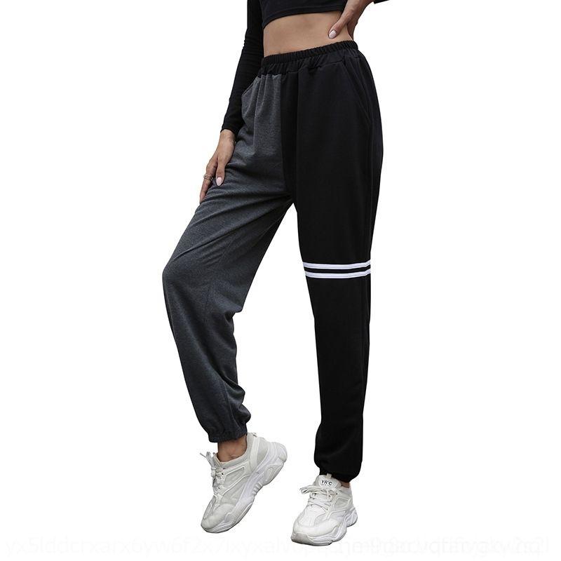 FRMT 2019 pantalones de verano cintura alta caqui color sólido streetwear pantalones de moda damas