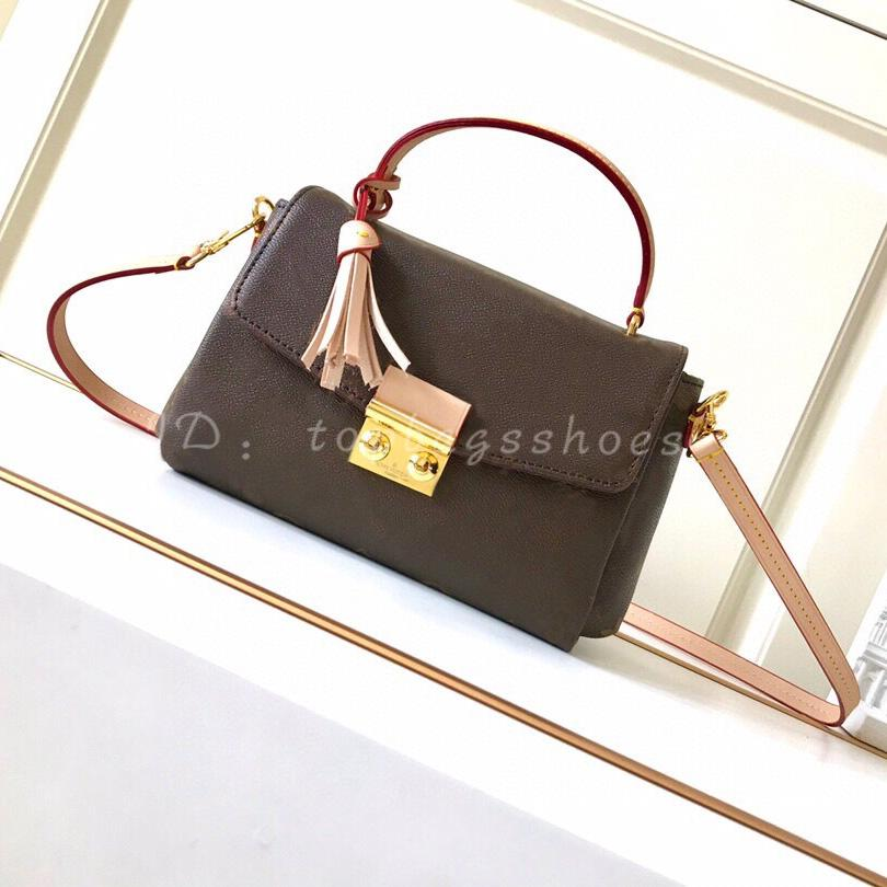 Verkauft Designer Crossbody Bag Brown 2020 Womens Luxus Quasten Ladiies Flap Marke Original Geldbörsen Hot Leder Messenger Handtaschen Mode KNVs