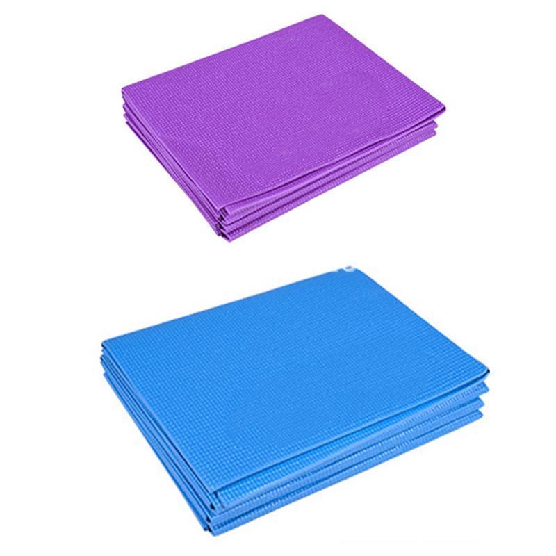 PVC Pieghevole yoga tappetino da polso esercizio fisico spesso antiscivolo pieghevole palestra fitness tappetino pilates rifornimenti pavimento