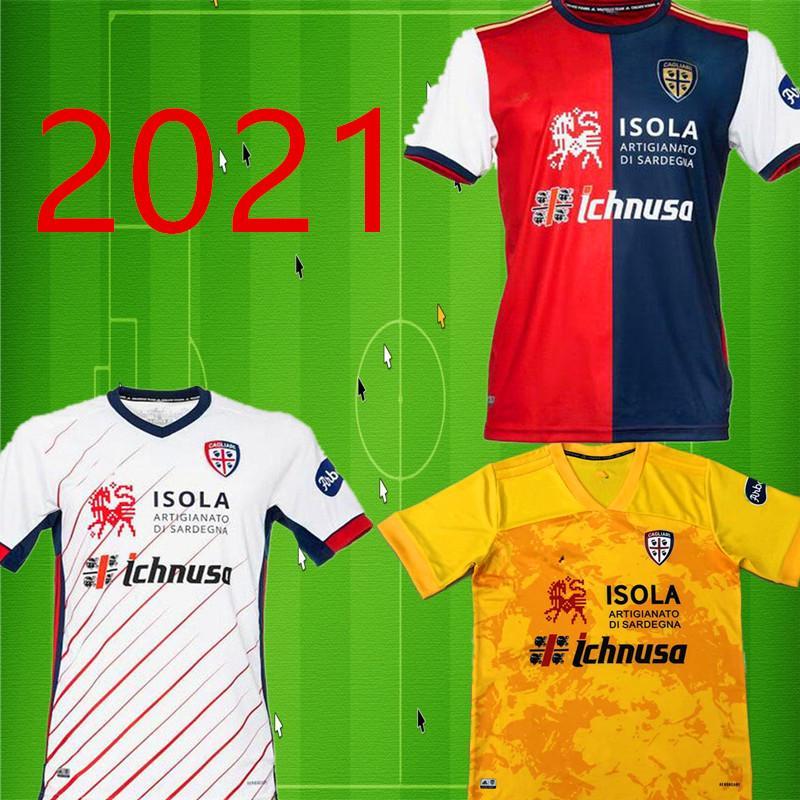 20 21 كالياري لكرة القدم بالقميص المئوية كيت جواو بيدرو طبعة محدودة NAINGGOLAN 2020 2021 ماليي قميص دا الذكرى السنوية لكرة القدم
