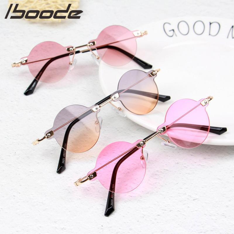 Óculos de sol ôcoa menino menina menino bonito verão redondo cor doces crianças sem moldura uv4001
