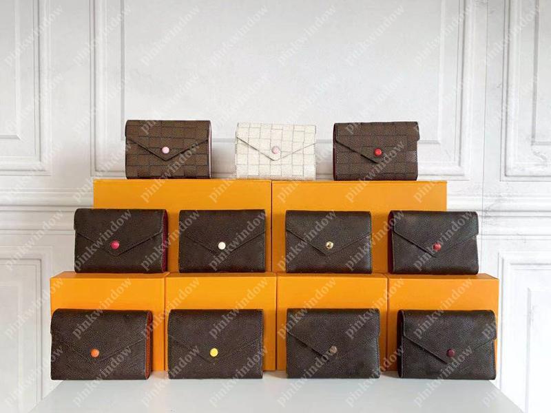 Hommes Portefeuilles Femmes Titulaire de la carte Luxurys Designers Designers Porte-monnaie Porte-monnaie Porte-cartes Portefoglio Portefeuille Victorine Portefeuille 210106L