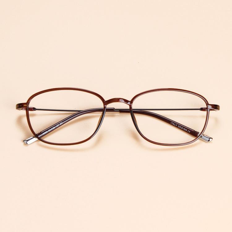 Studenten Tungsten Ultem Glas-Rahmen Retro-Runde Brillen Männer Frauen Myopie optischer Rahmen Korea-Raum-Objektiv Mode Brillen