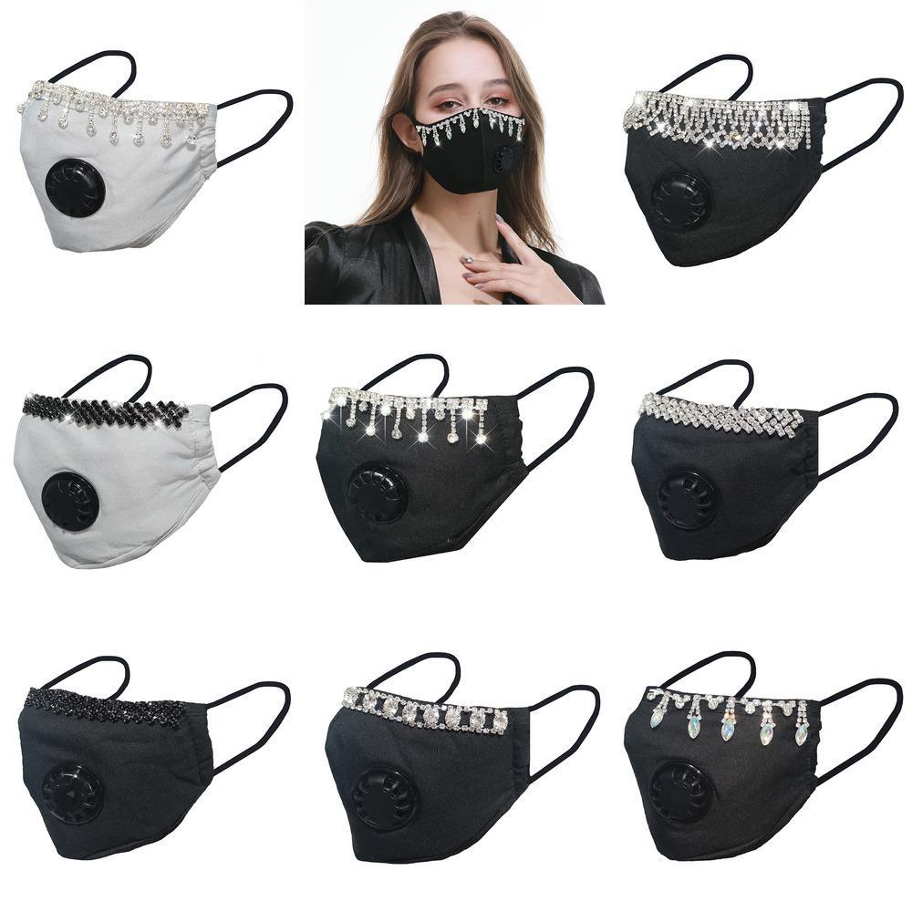 con negro de algodón MIX2 Seguridad máscara de respiración polvo ventilación válvula pura
