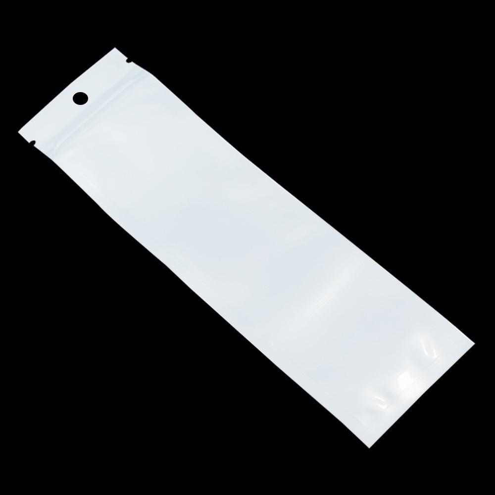 23 Klarer weißer Schmuckkunststoff BBYXYI-Loch Reißverschluss Runde Hang Bag 300 Mobiltelefonkoffer Ziplock Wiederverschließbare Verpackungsgrößen H Bags Avkeg