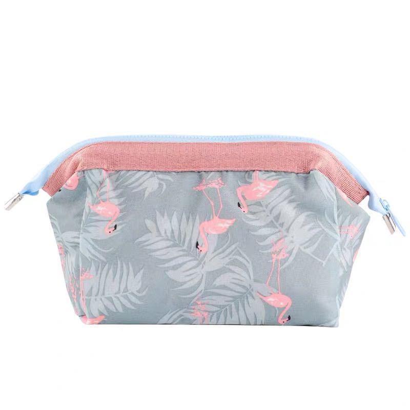 Oxford Tuch Kilometerbeutel Flamingo Blume Reißverschluss Beutel Quadratische Wasserdichte Staubdichte Feder Make-up-Tasche Bequem hohe Qualität 3 8RS L2