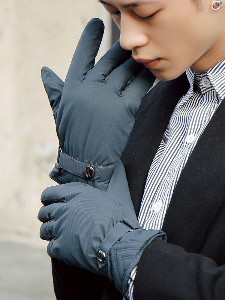 VIPwith Handschuhe, Reiten Winter, winddicht, wasserdicht und kalt Beweis, Touch-Screen, Fahrer, warmen Baumwollhandschuh Mann in winterMVP
