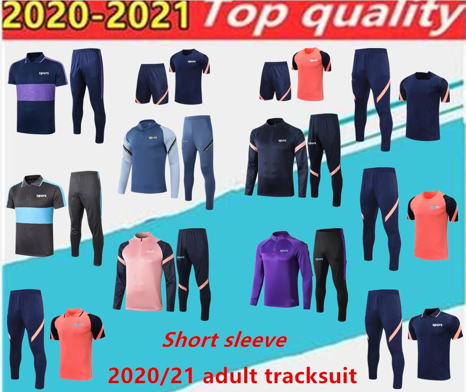 20 21 Spurs Adult Tracksuit del Chandal 2020 2021 Celso Ndombele Polo Shirt Chaquetas de fútbol Juego de entrenamiento JOGGING.