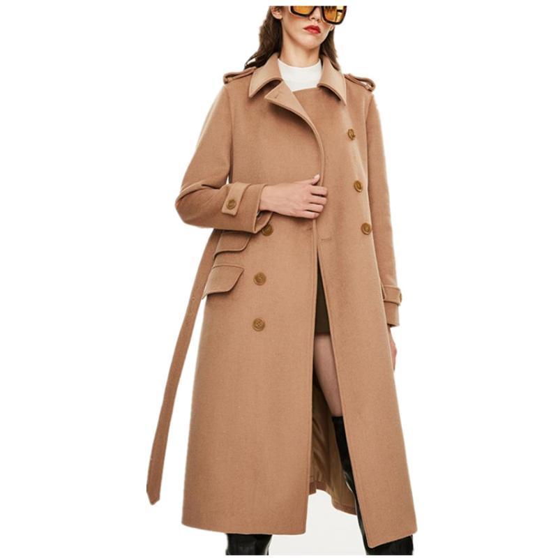 겨울 모직 코트 여성 패션 클래식 오버 코트 여성 두꺼운 모직 코트 우아한 긴 재킷 streetwear