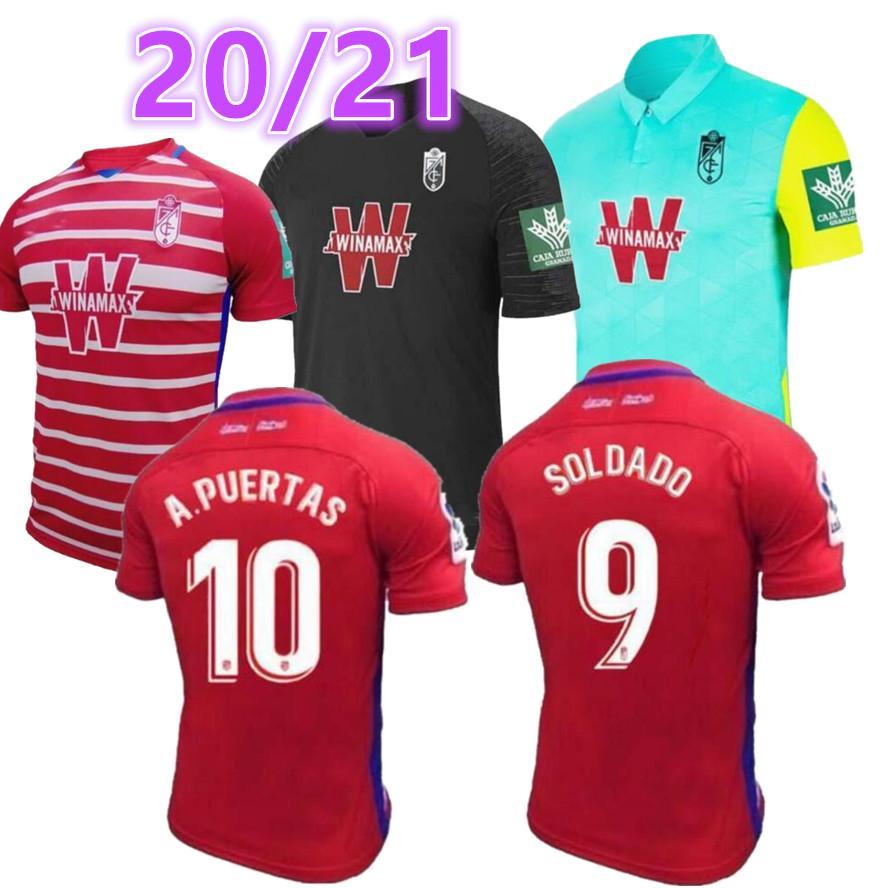 2020 2021 Neue Granada Männer Fussball Jersey 20 21 Granada CF Mens Football Shirts Soldado Fußball Jerseys Camiseta de Fútbol Maillot de Foot