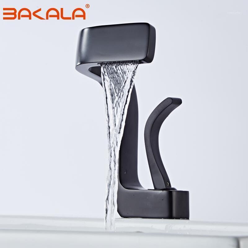 Bakala Basin rubinetto rubinetto nero / cromo / bianco ottone materiale miscelatore miscelatore rubinetto a caldo lavandino freddo rubinetto bagno lavatorio1