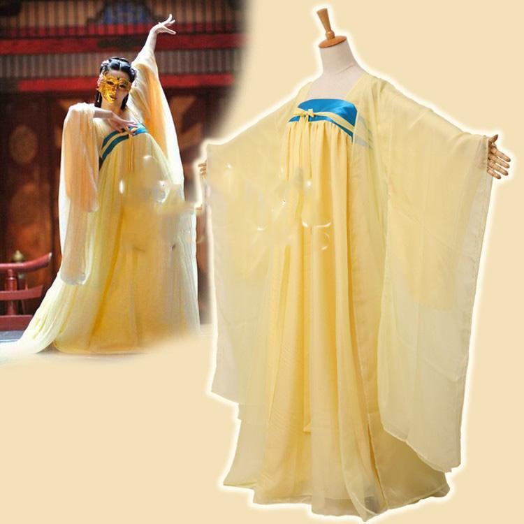 황제 쉬폰 댄스 의상 당나귀 높은 허리 of Empress Wu Meiniang 풀 세트 무대 착용