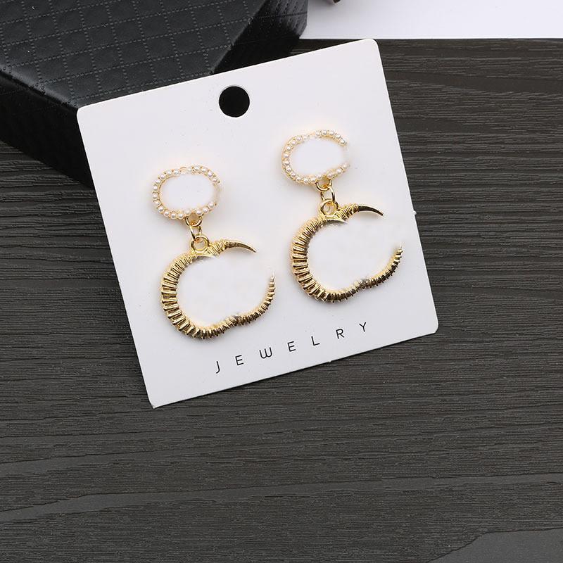 Boucles d'oreilles de la lettre de concepteur rétro SO Style Charm Bijoux Femmes Europe America Boucles d'oreilles Goujons S925 Silver Aiguille