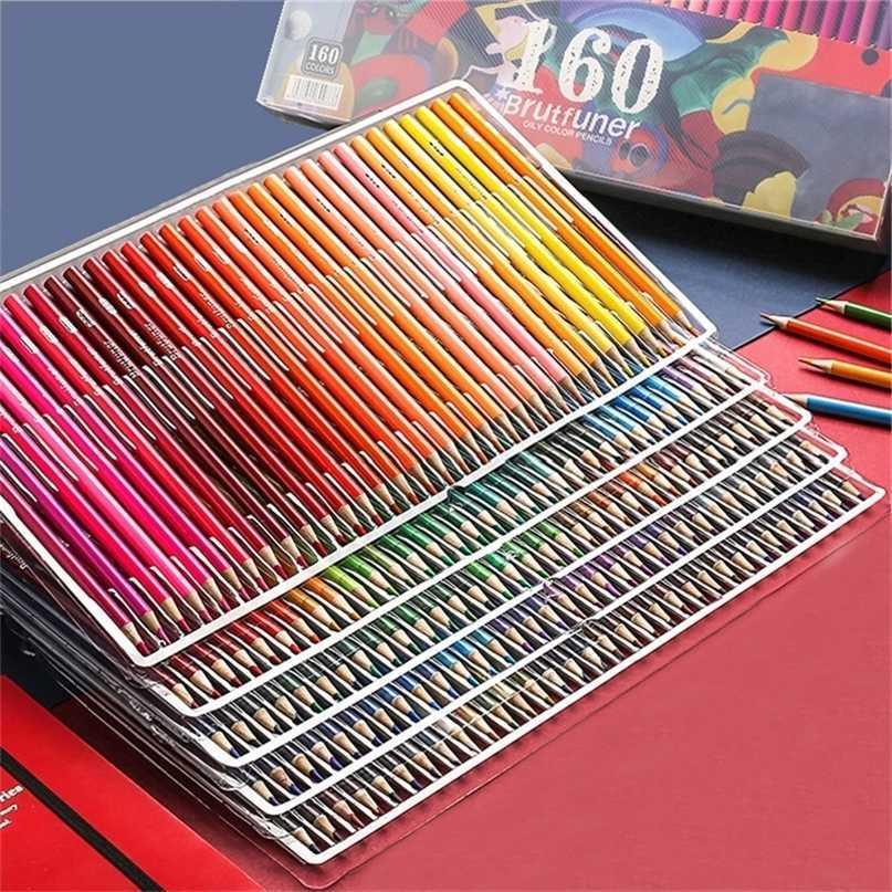 48/72/1266/180 lápis de cor profissional lápis de óleo macio para escraca desenhar esboço arte suprimentos 201223