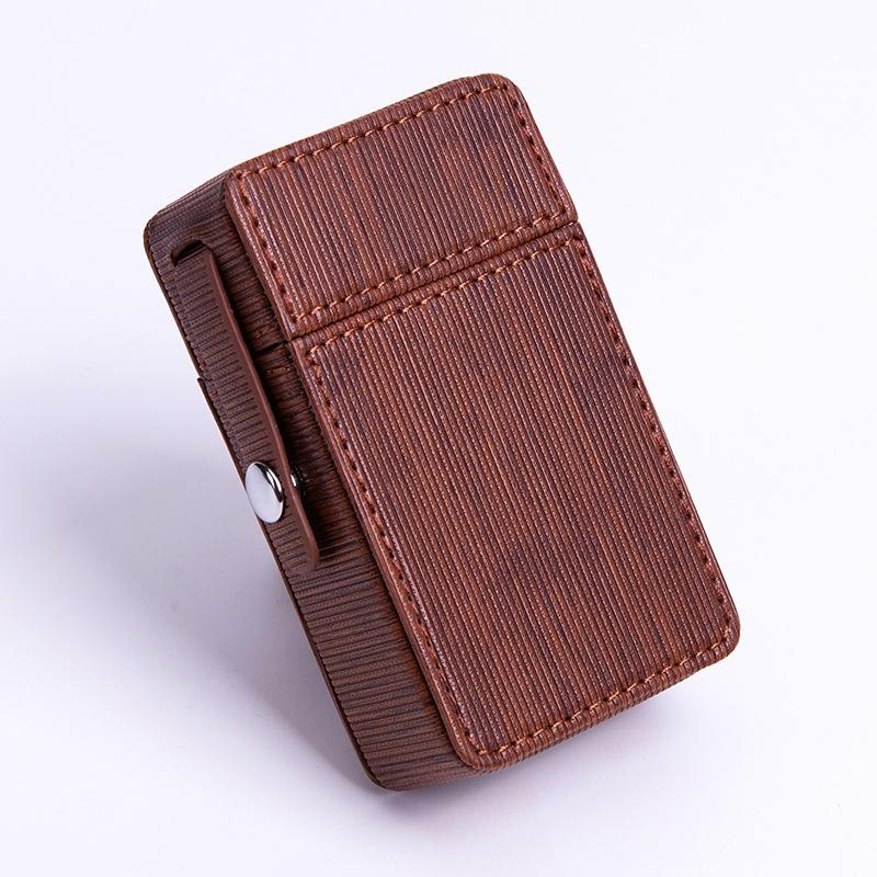 Portable PU cuir Refroidir tabac sec Herb cigarette innovant design Stash Case Container Box haute qualité Shell Catch DHL verrouillage