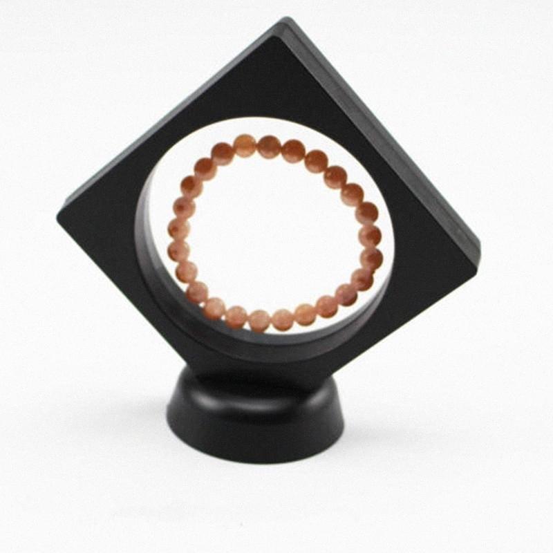 1X 3D العائمة الإطار حامل الأحجار الكريمة كوين مجوهرات واضح عرض القضية VRS9 #
