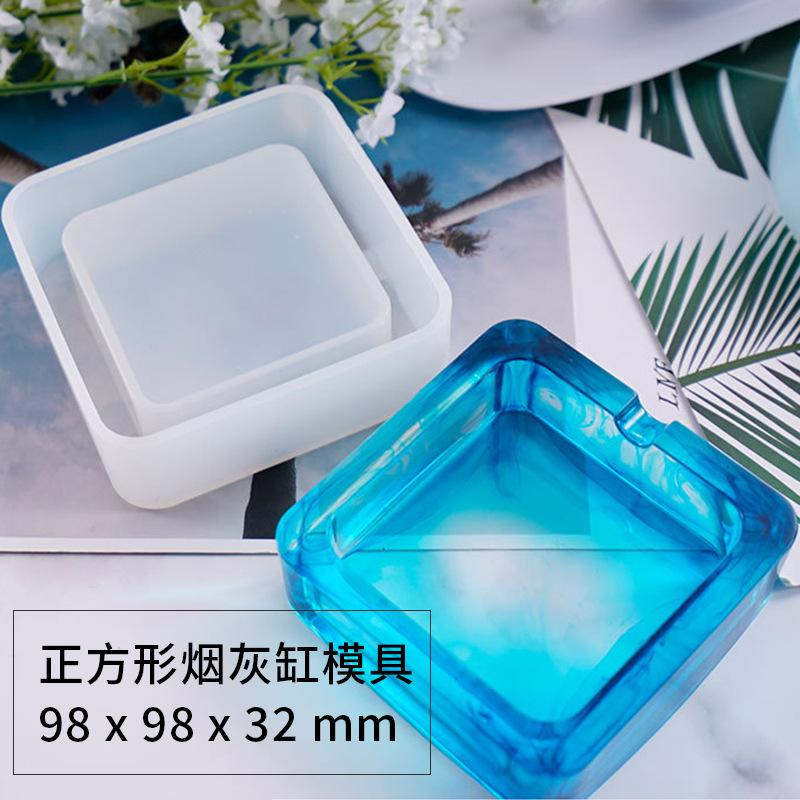DIY Epoxy Resin Silicone Molds Crystal Drop Glue Small Round Ashtray Mould White Translucent Environmental Craft Tools New Arrival 7 5ly M2