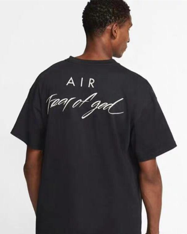 NRG Air страх перед Богом футболки туман негабаритные тройники для мужчин женские бренд сотрудничество дизайнер футболка повседневная джерси рубашка хип-хоп скейтборд