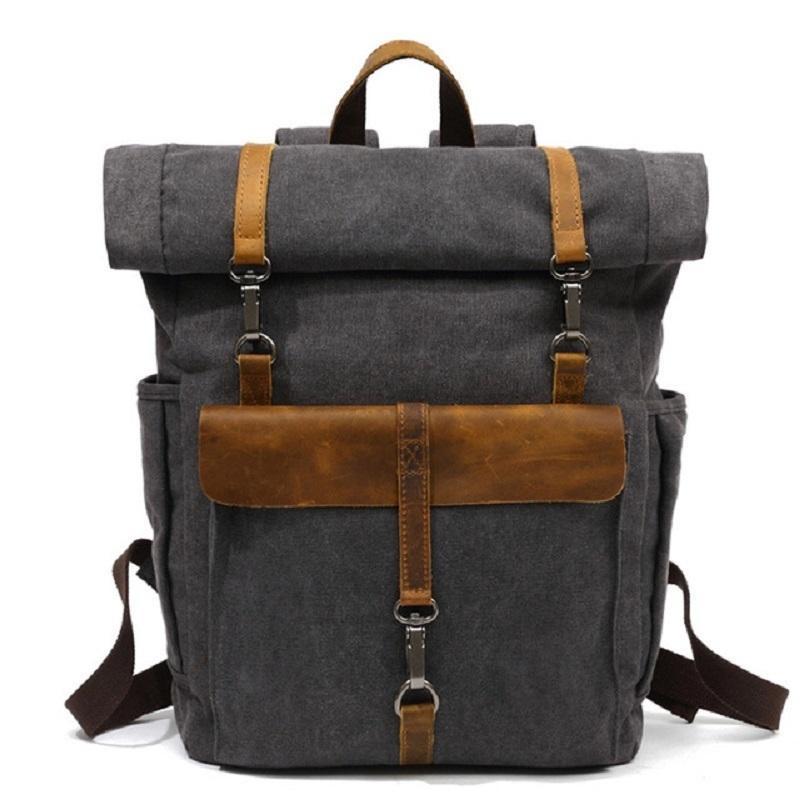 """M245 New Llegan Moda Mochilas de cuero 14 """"Laptop Daypack para viajar adolescente back pack estudiante computadora rucksacks 201013"""