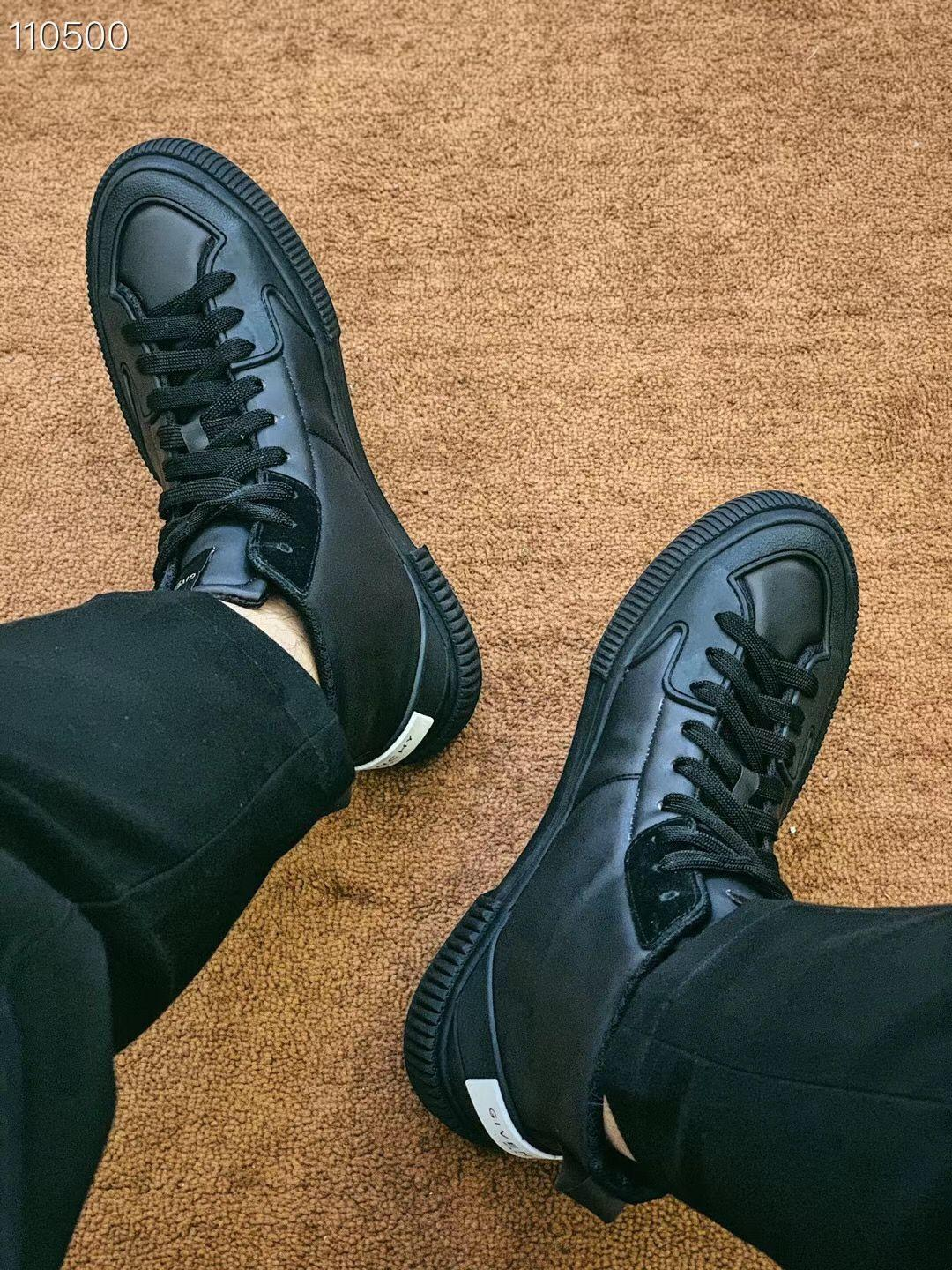 2020 luxurys -n-ch Give Hommes Chaussures montantes Casual Mode Hommes Mocassins à bout rond piste lacent Hommes Chaussures Blanc Noir Chaussures d'origine