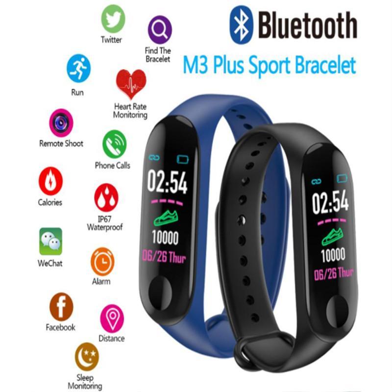 M3 Plus Smart Bracelet Heart Rate Blood Pressure Health Waterproof Smart Watch M3 Pro Bluetooth Watch Wristband Fitness Tracker 1pcs/lot