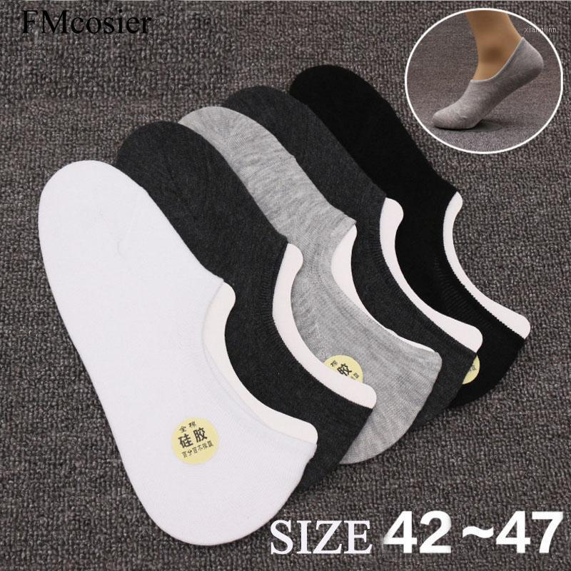 8 Paar Sommer Baumwolle Meias Sokken Knöchelboot Calcetines Invisibles Hombre Low Cut Socken Nein Show Socken Mens Big Plus Größe 45 46 471