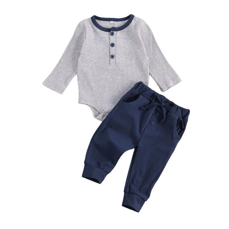 Zestawy odzieżowe Urodzone Baby Boys Ubrania Zestaw Krążowy Krojenia Topy + Spodnie Casual Stroje Track Infant 2szt Dla Dzieci
