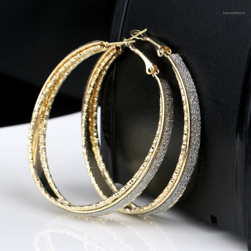 50mm popolare grande orecchino orecchino donna metallo semplice opaco cerchio orecchini rotondi brincos bijoux femme1