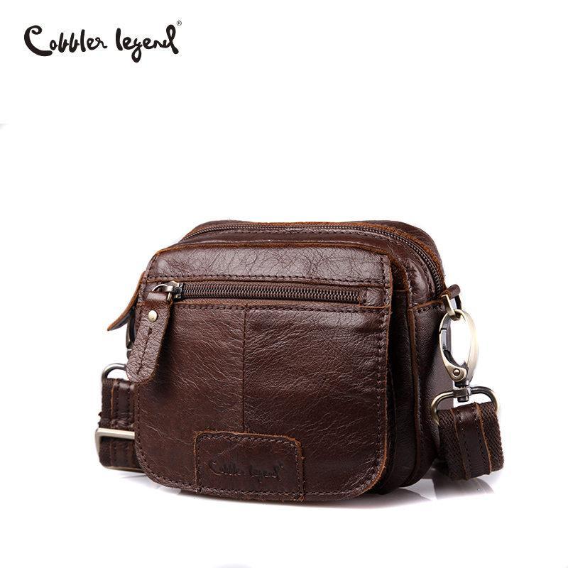 Cobbler Legend Marke Mini Men Echtes Leder Messenger Bag Russische Männer Ledertasche Vintage Schulter Crossbody Taschen Männlich 2019