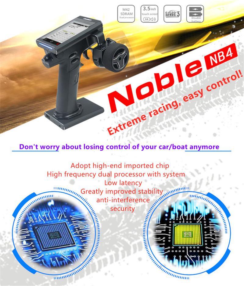 """Flysky FS-NB4 2.4G 4CH Noble Radio Remote Control Transmitter FGR4 & FGR4S Receiver HVGA 3.5"""" TFT Color Screen for RC Car Boat"""