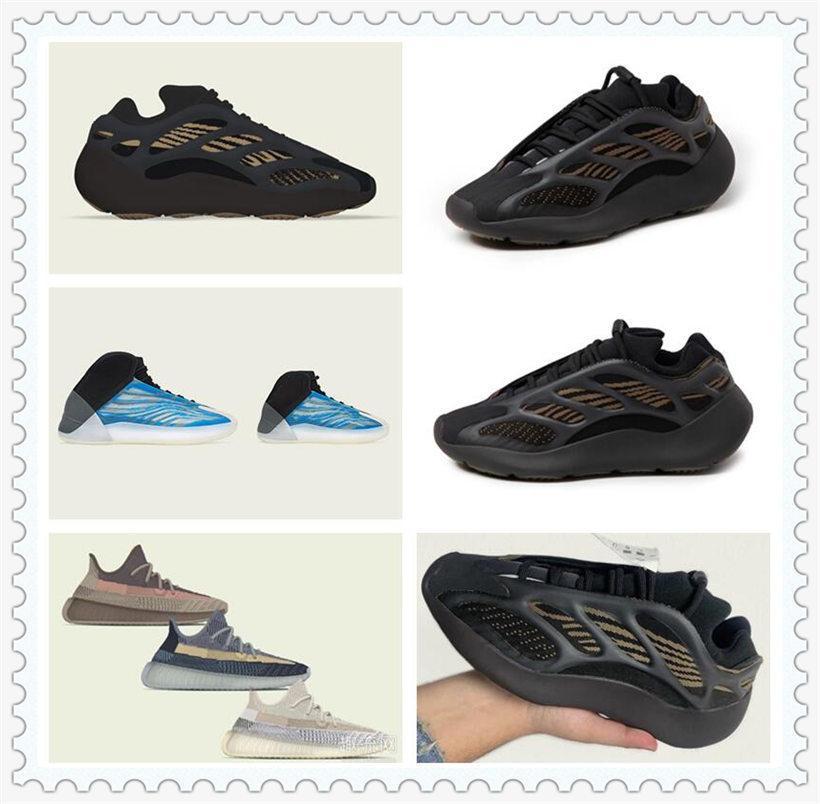 Zapatillas deportivas para mujer para hombre 2021 Kanye West Ash-Stone Sun Top Top TIENDO Luz Reflectante Casual Super Sneakers Tiempo de viaje Tamaño 36-48