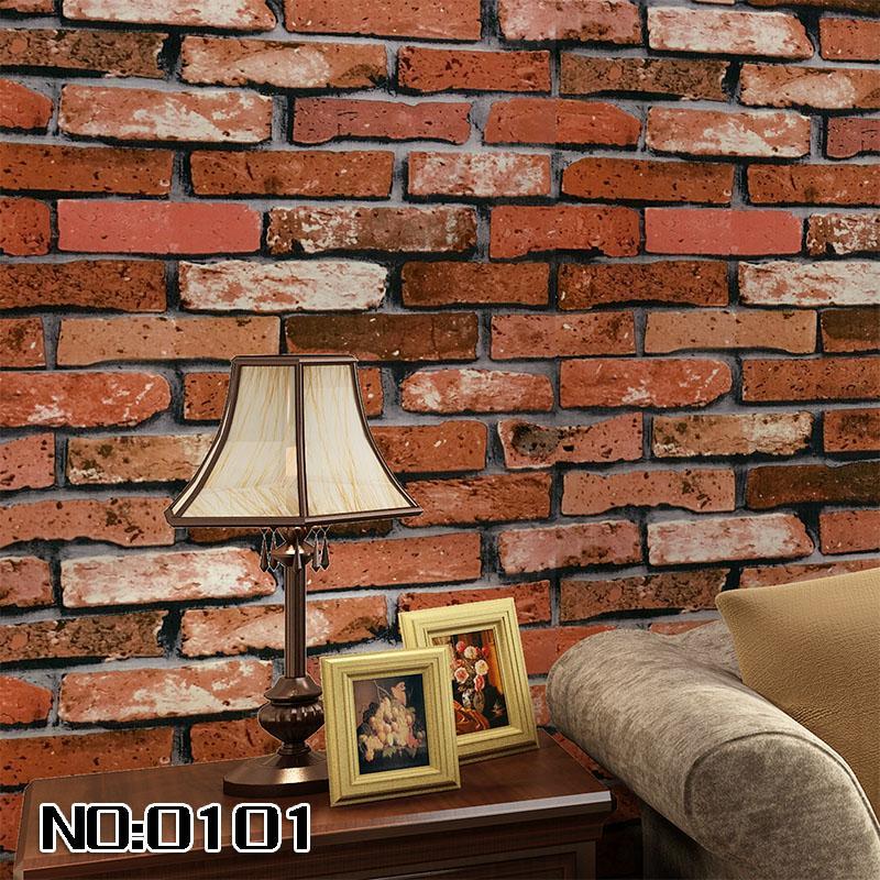 Beibehang Chambre 3D Papier mural rouleau de pierre Brique Design Fond de fond mur Vinyl Papier peint Rouleau moderne pour salon Wall revêtement mural